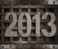 2013 new year metal. Illustration Vector Illustration