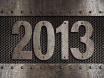 2013 new year metal. Illustration Royalty Free Stock Images