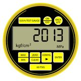 2013 New Year modern digital  manometer Royalty Free Stock Photography