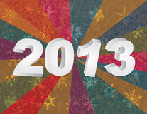 2013 New Year Numerals in 3D Background Stock Images