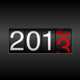 2013 New Year Odometer Royalty Free Stock Images