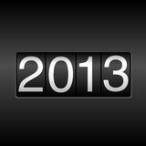2013 New Year Odometer. New Year 2013 design - odometer style.  Uses simple gradients Stock Photography
