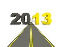 2013 New Year on the road Stock Photography