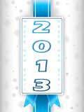 2013 new year's eve greeting card. New year's eve greeting card with 2013 label royalty free illustration