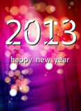 2013 New Year Template Stock Photo