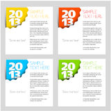 2013 - New Year vector corner. For your card or web site Royalty Free Stock Photography