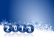 2013 new years illustration. With christmas balls Stock Images