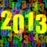 2013 new years illustration. With numbers stock illustration