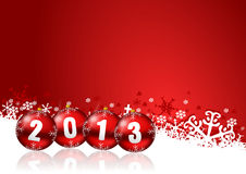 2013 new years illustration. With christmas balls Royalty Free Stock Photos