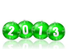 2013 new years illustration. With christmas balls on white background Stock Images