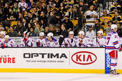 2013 New York Rangers bench Stock Images
