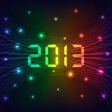 2013 Nieuwe jaarachtergrond Stock Fotografie