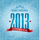 2013, nieuwe jaarachtergrond Stock Afbeeldingen