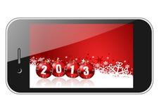 2013 nieuwe jarenillustratie Stock Fotografie