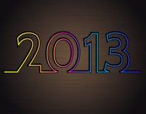 2013 no fundo escuro do metal Imagens de Stock Royalty Free