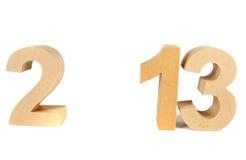 2013 nos números 3D de papel Imagens de Stock