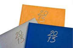2013 notitieboekjes Stock Fotografie