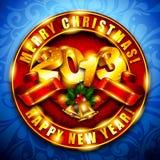 2013 Nowy Rok tło Obraz Stock