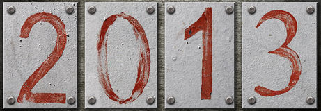2013 number Stock Image