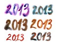 2013 numeri Fotografia Stock