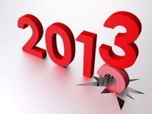 2013 nuovi anni Fotografie Stock Libere da Diritti