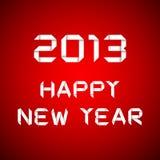 2013 nuovi anni felici, scheda di nuovo anno felice Immagini Stock Libere da Diritti