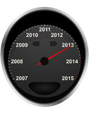 2013 odometer. Illustration of years odometer, 2013 year Stock Photography