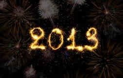 2013 ont effectué des étincelles Images stock