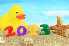 2013 op het strand Royalty-vrije Stock Foto