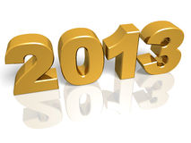 2013 oro. Golden New year 2013. 3d render. Very High resolution stock illustration