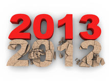 2013 over 2012 Royalty Free Stock Images