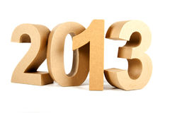 2013 in paper 3D numbers Royalty Free Stock Photos