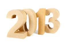 2013 in paper 3D numbers Royalty Free Stock Photo