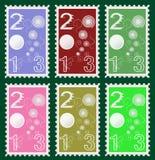 2013 postzegels royalty-vrije illustratie
