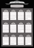 2013 Professional Business Calendar. Professional looking Black and Silver 2013 calendar with blank place for your business name or information Stock Photos