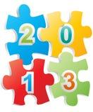 2013 puzzle Stock Photo