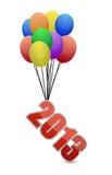 2013 que voam afastado e balões Foto de Stock Royalty Free