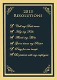 2013 resoluties Stock Afbeeldingen