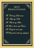 2013 Resolutions Stock Images