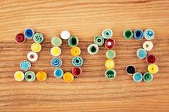 2013 rok robić od ceramicznych koralików Fotografia Royalty Free