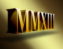 2013 Roman numerals Royalty Free Stock Photos