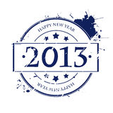 2013 rubber stamp. Rubber stamp for 2013, isolated and grouped object on white Royalty Free Stock Photo