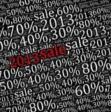 2013 sales discount info text Stock Image