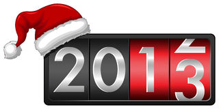 2013 with Santa Cap Royalty Free Stock Photography