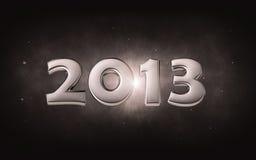 2013 - silbernes Datum 3d Lizenzfreie Stockfotos