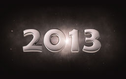 2013 - silver 3d date Royalty Free Stock Photos