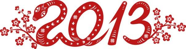 2013 Snake year. Snake year 2013. Chinese zodiac symbol vector illustration