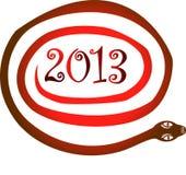 2013 Snake year. Snake year 2013. Chinese zodiac symbol royalty free illustration
