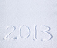 2013 on the snow. For the new year and christmas Stock Illustration