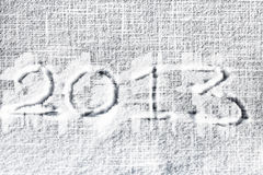 2013 on snow Royalty Free Stock Photography